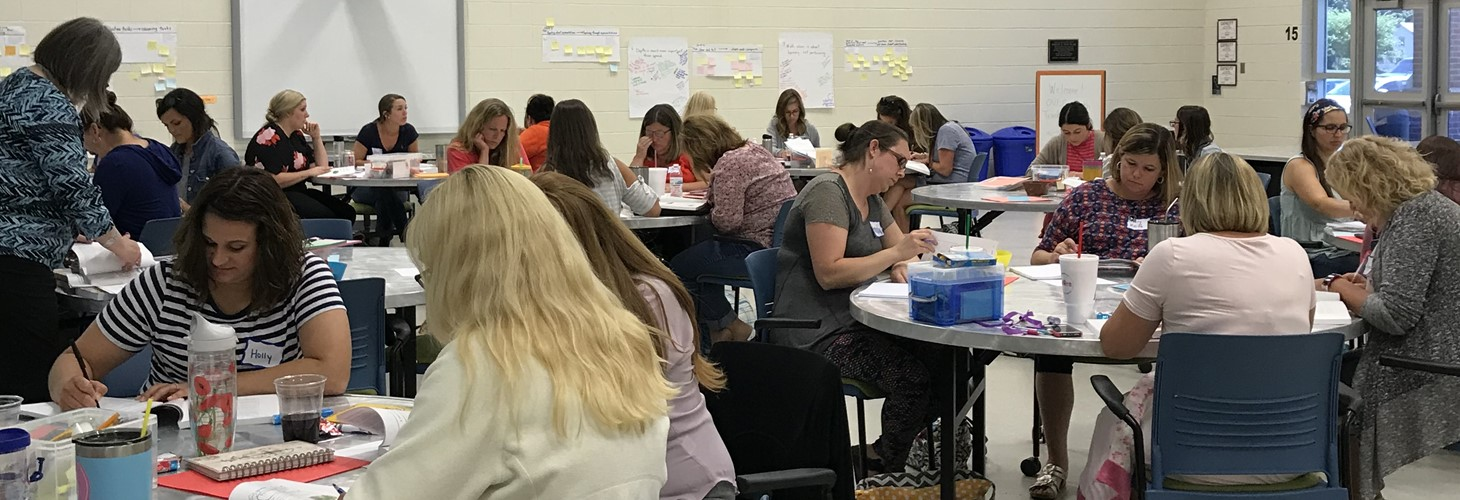 Elementary Math Teacher Leaders developing plans to work with their colleagues