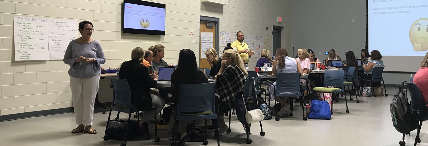 Teachers immersed in developing Project Based Learning to implement with their students during 2018-2019