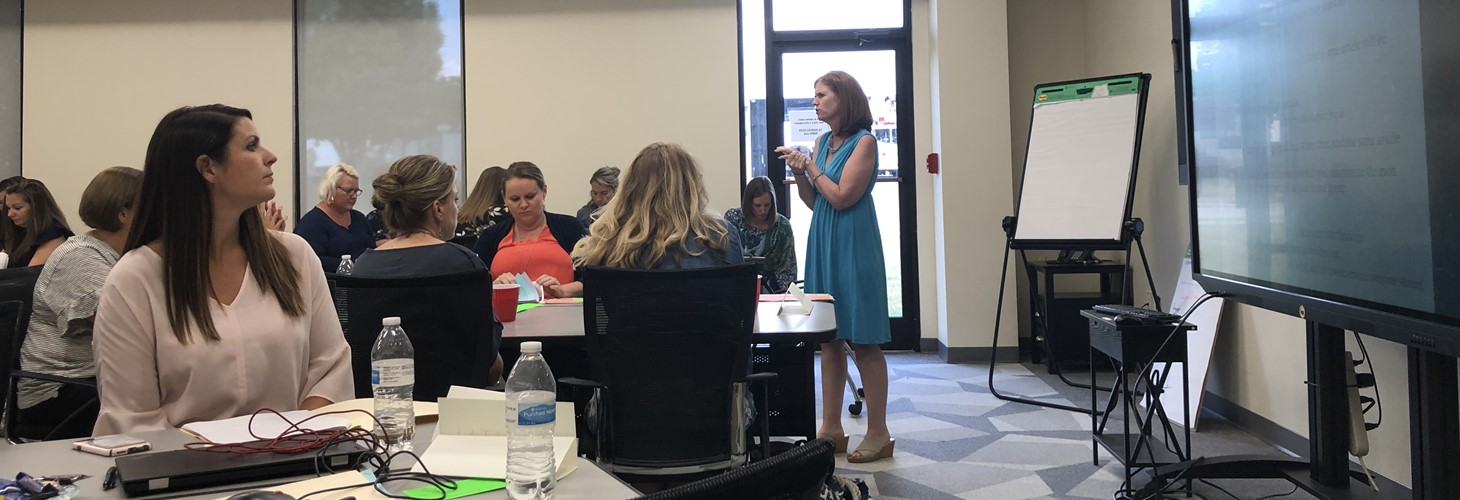 Profession Learning with Dr. Kim Landrum focusing on improving instructional coaches processes to support co-teaching