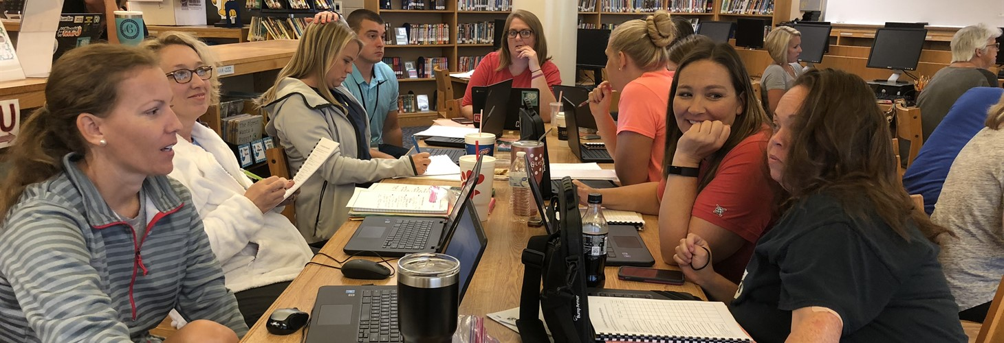 Teachers participate in setting personal goals for Co-Teaching at Hearn Elementary